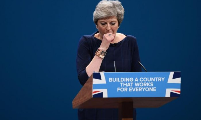 Theresa May: 'MPs only calling for leadership election as conference blows everything out of perspective'