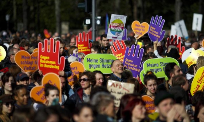 Thousands took part in a protest against the far-right AfD