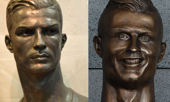 The new statue seen alongside the previous one. Which is better? We can't decide
