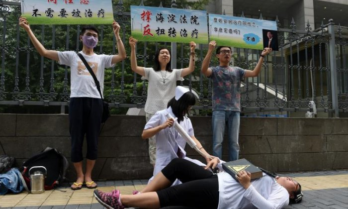 Rights report urges China to ban gay conversion therapy