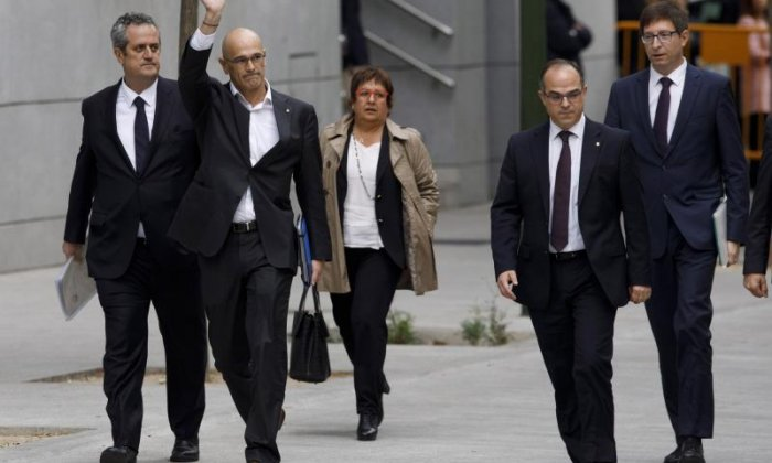 Former members of Catalonia's regional government attend High Court