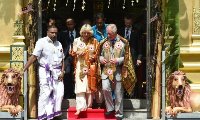 Charles and Camilla were given new items of clothing to wear