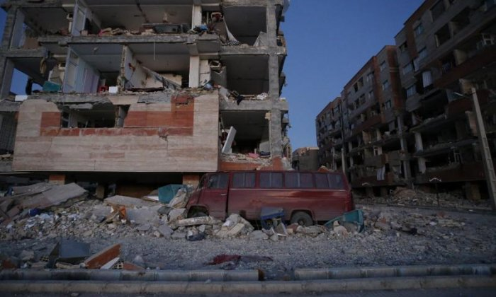 Scores of buildings were severely damaged in the earthquake