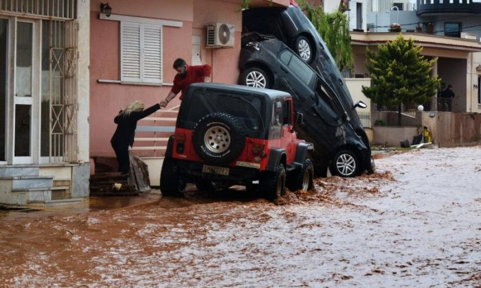 Areas near Athens have been severely flooded