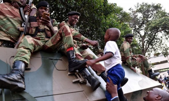 Children also met soldiers on the streets
