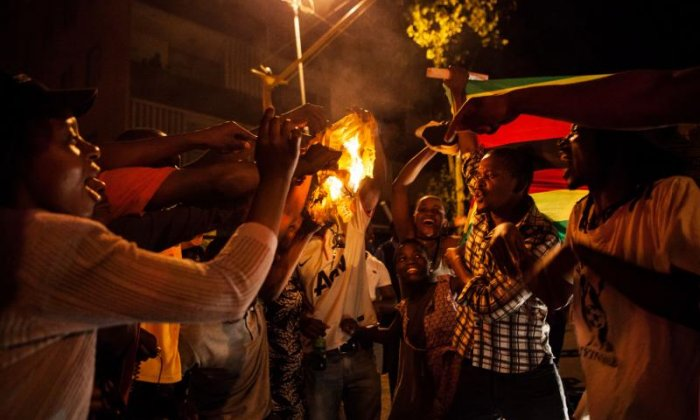 Many in Zimbabwe have celebrated the resignation of Robert Mugabe