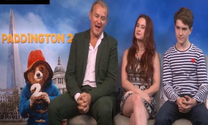 Hugh Bonneville, Madeleine Harris and Samuel Josin chat Paddington 2 with Johnny Seifert