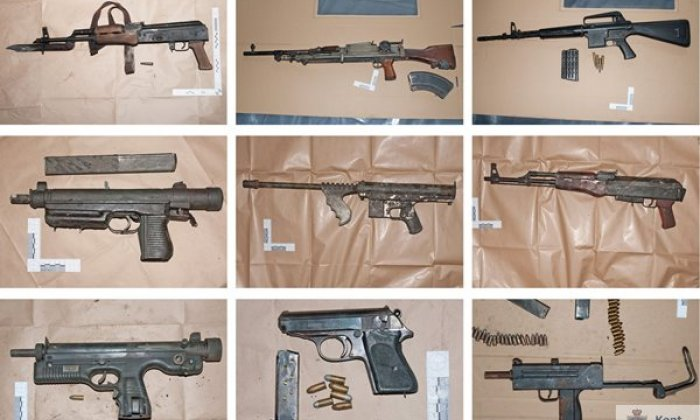 A selection of the weapons seized from Bushell's home