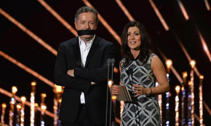 Piers Morgan, seen here with his Good Morning Britain co-host Susanna Reid, launched an attack on Jeremy Clarkson today