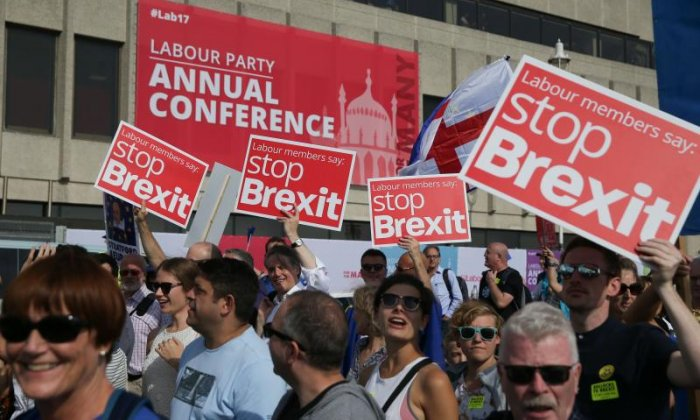 Protests continue against Brexit, 18 months on from the vote