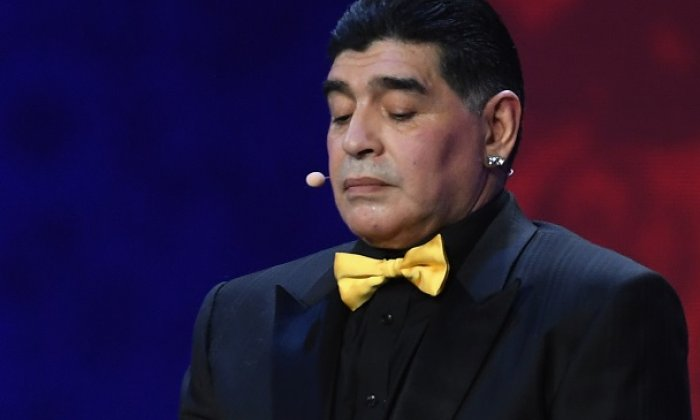 Maradona was in the country on a charity visit