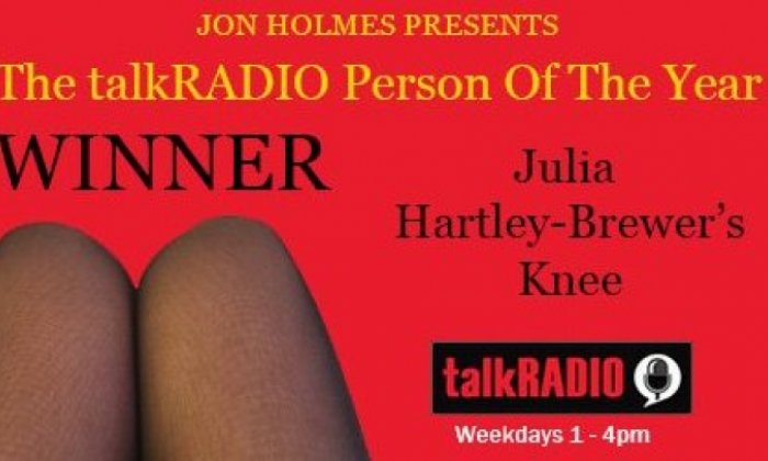 Julia Hartley-Brewer's knee wins The talkRADIO Person Of The Year