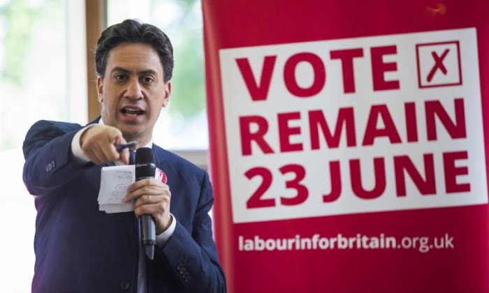 Miliband lost the 2015 general election and was on the beaten side in last year's EU referendum