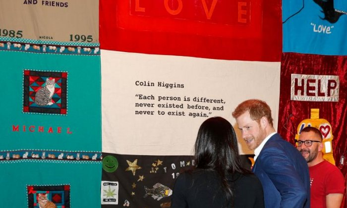 The Royal couple look around the charity fair