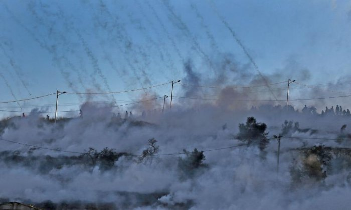 Tear gas has been used by Israeli forces