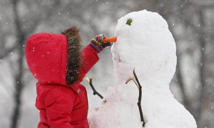 'He's not going anywhere' - People make the most of the wintery weather by making snowmen