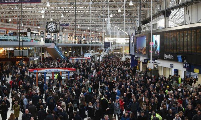 London Waterloo customers were warned of chaos this evening (stock photo)