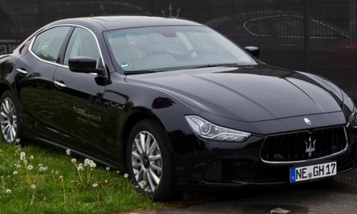 The Maserati was ploughed into politce officers on Sunday (stock photo)
