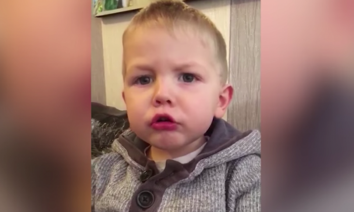Toddler drops the F-bomb after learning Santa was coming to his house