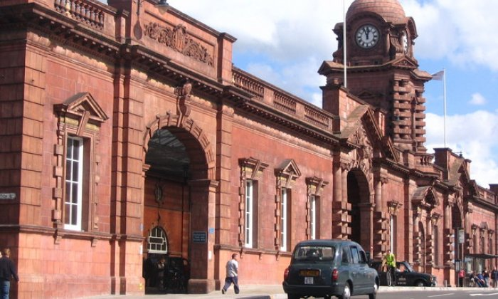 50 firefighters tackle fire at Nottingham station