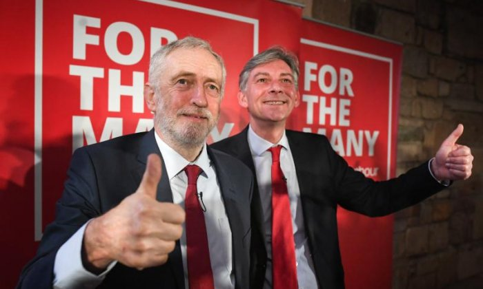 Jeremy Corbyn (left) consolidated his grip on the party with yesterday's NEC elections