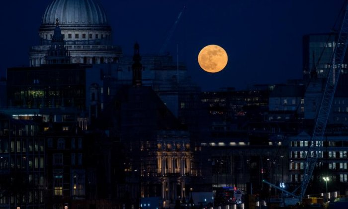 The moon could be seen from the UK
