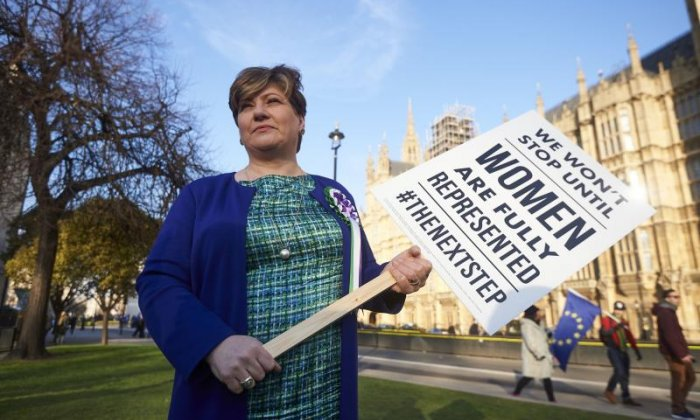 'It shouldn't be a big deal for women to stand for election, but it is and needs to change', says Emily Thornberry