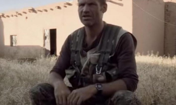 James Matthews featured in a documentary about British volunteers fighting Isis (Channel 4)