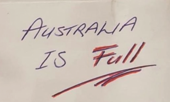 Racist note claiming 'Australia is full' left on Indian man's car