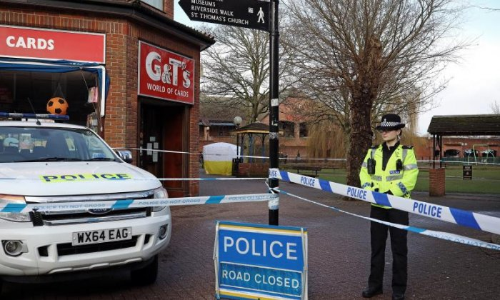 Hundreds of police officers investigating nerve agent attack on former Russian spy Sergei Skripal