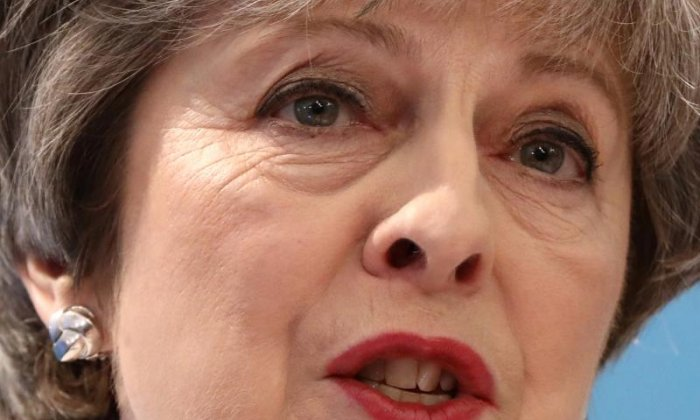Mrs May was challenged in the Commons over the Tory party's links to CA's parent company SCL Group