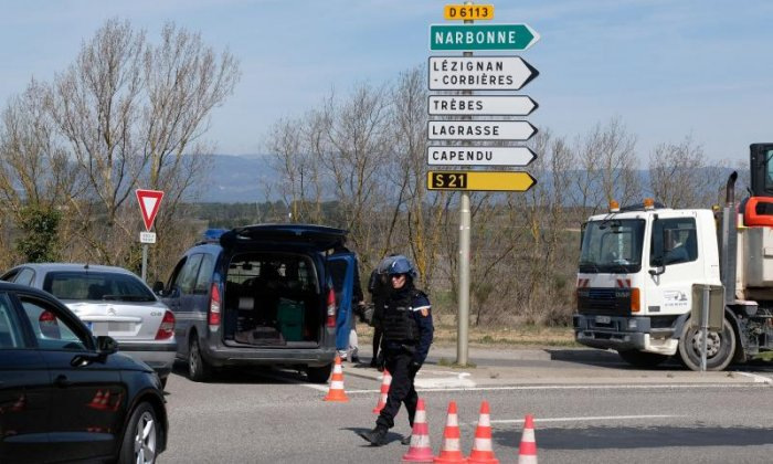 Gunman holding hostages at supermarket in France