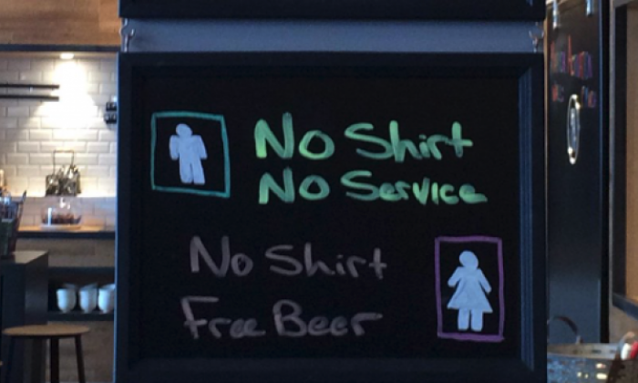 Marriott Hotel apologises for using sexist sign in Aberdeen bar