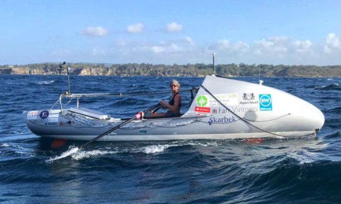 Woman who beat life-threatening illness completes solo row across Atlantic