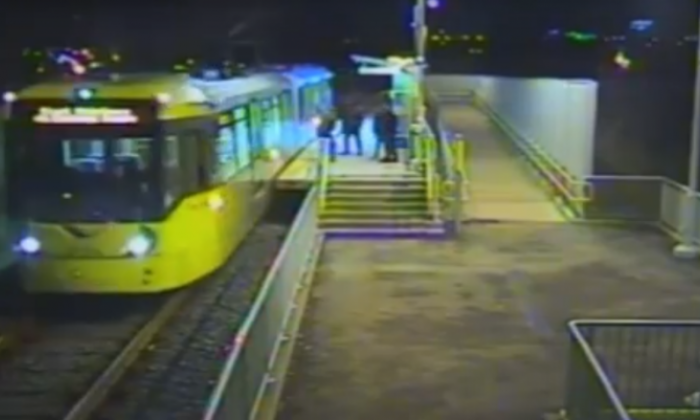 Three teenagers charged after man attacked on tram platform