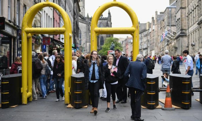 Mobile anti-terror barriers to be used in Edinburgh