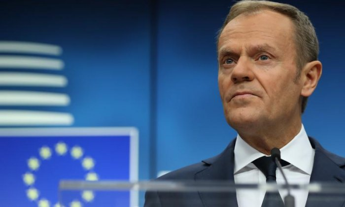 Donald Tusk told MEPs that the UK had created the issue as a result of the Brexit vote and had a duty to find a solution