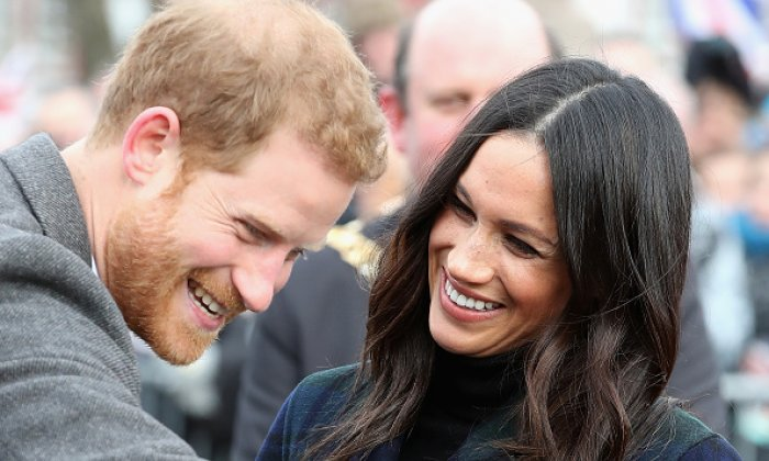 Prince Harry and Meghan Markle during a visit to Edinburgh Castle earlier this year