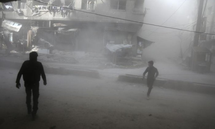 The west has blamed President Assad for the attacks