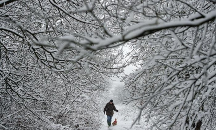 The recent hot weather will soon turn cold, with sleet and snow a risk on higher ground