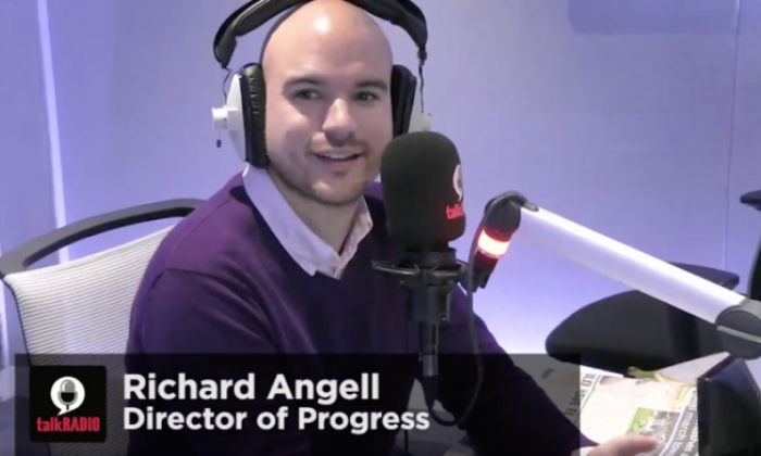 Julia Hartley-Brewer clashed with Richard Angell, the Director of Labour group Progress