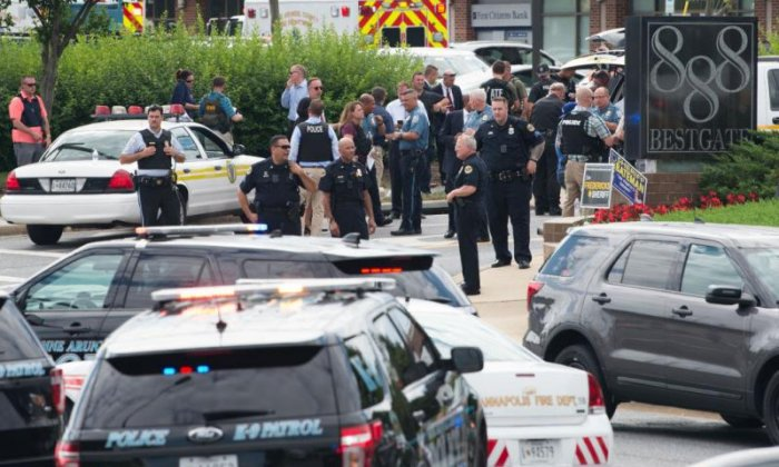 Five dead and two injured in shooting at US newspaper offices