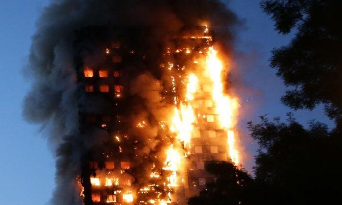 Residents were advised by the fire brigade to stay in their flats until 2.47am - a decision which is feared to have been fatal