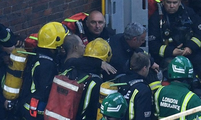 """I know we saved a lot of people, but I know we lost a lot of people,"" said the Hammersmith fire station watch manager"