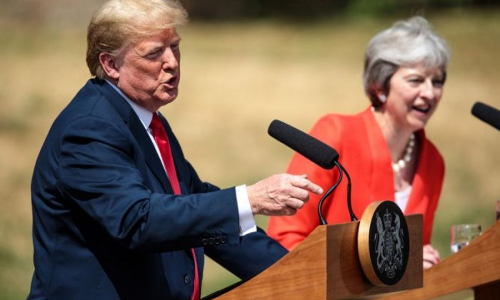 The right side of the pond: Trump's no baby, but he wants Brexit to benefit him