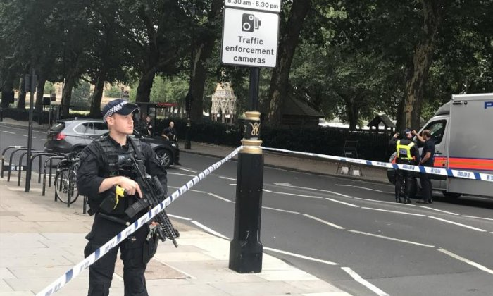Counter-terror police investigating Westminster car crash