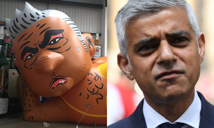 Sadiq Khan responds to blimp protest: 'Yellow's not really my colour'