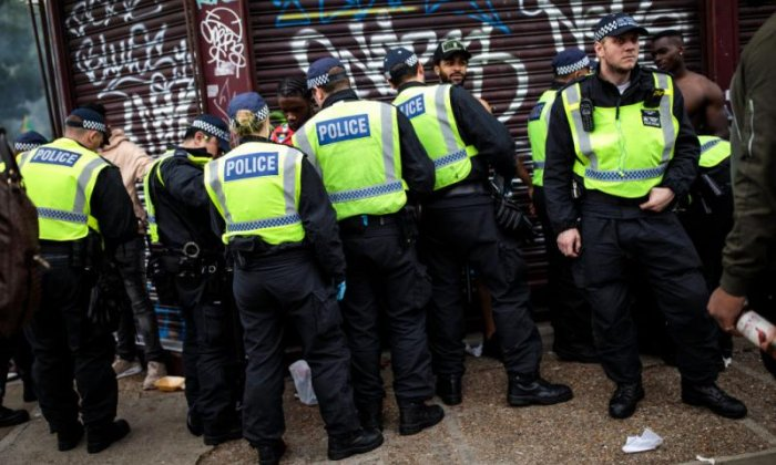 Police implementing stop and search at the 2018 Notting Hill Carnival