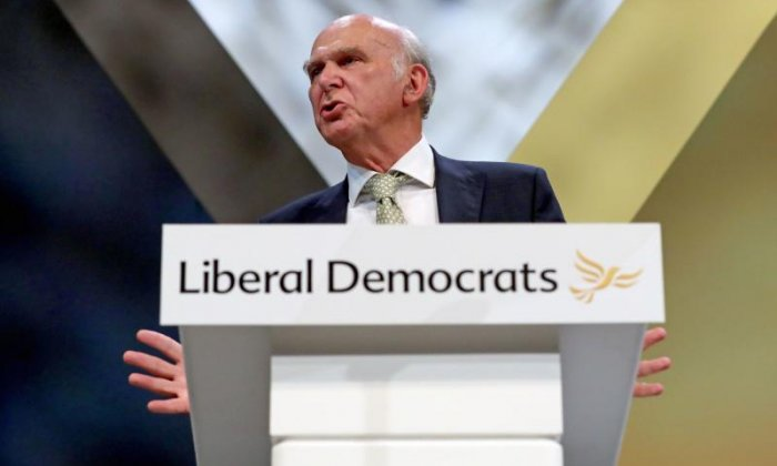 Vince Cable messes up 'erotic spasm' line in keynote speech