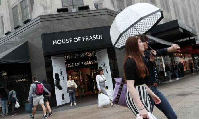 House of Fraser pays more to rent London premises than Amazon pays in tax, says Damian Collins